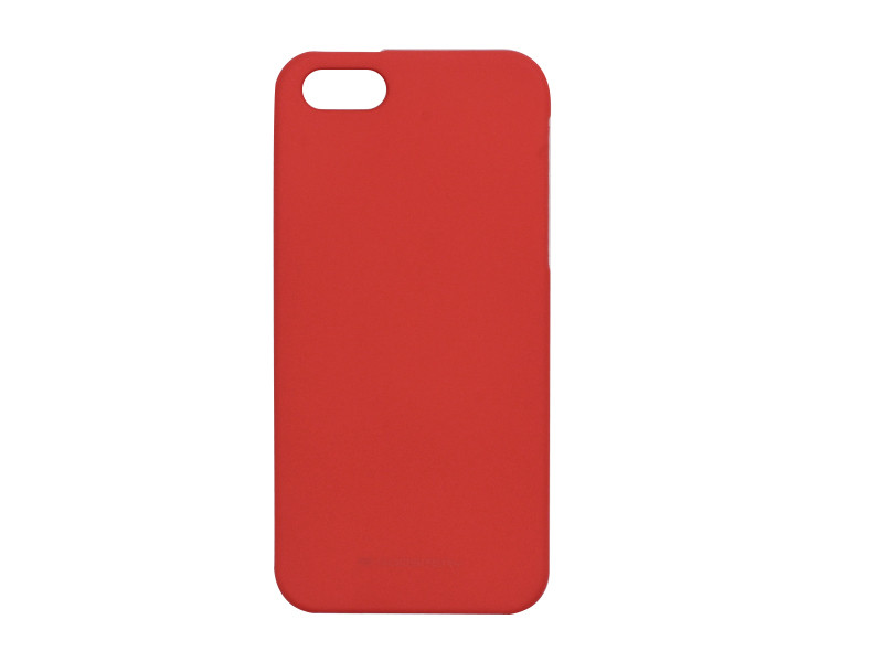 Apple iPhone 5 / 5S – etui na telefon Mercury Goospery Soft Feeling – czerwony