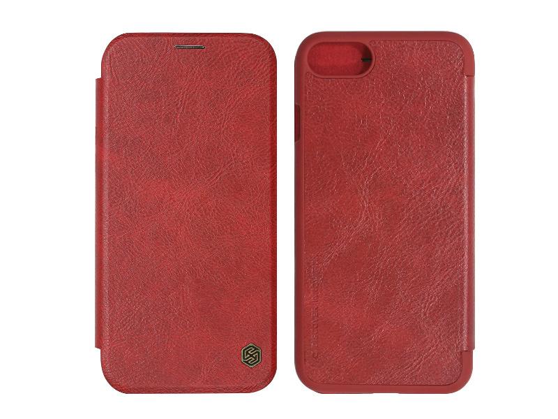 Apple iPhone 8 – etui na telefon Nillkin Qin – czerwony
