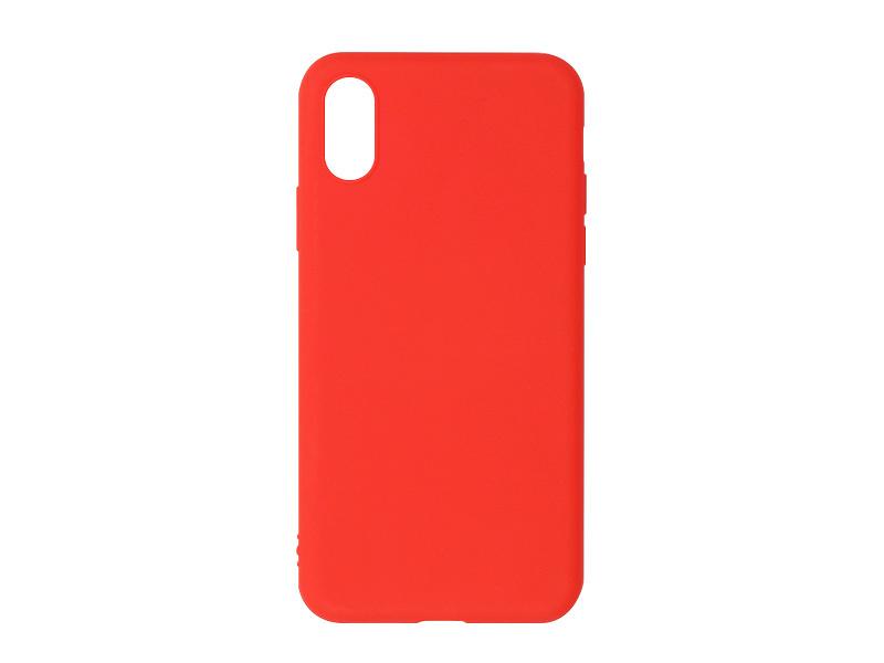 Apple iPhone X – etui na telefon Soft Flex – czerwony