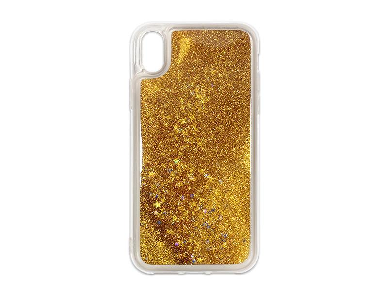 Apple iPhone XS Max – etui na telefon Liquid Glitter – zÃ…Â'oty