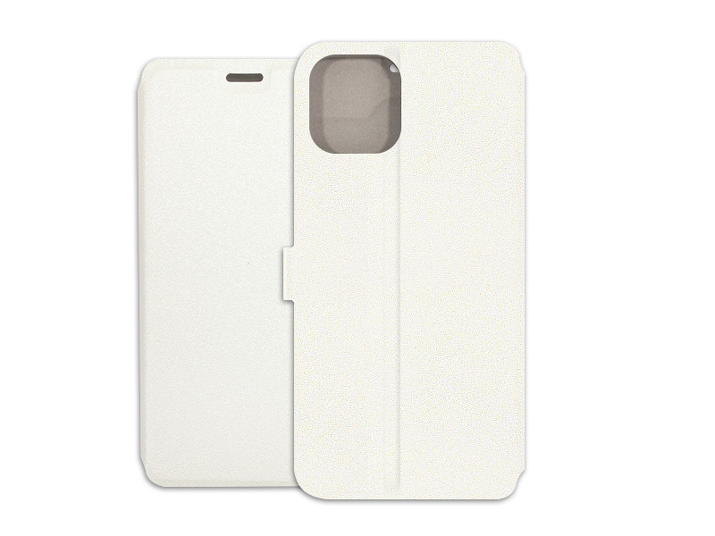 Apple iPhone 11 – etui na telefon Wallet Book – biały
