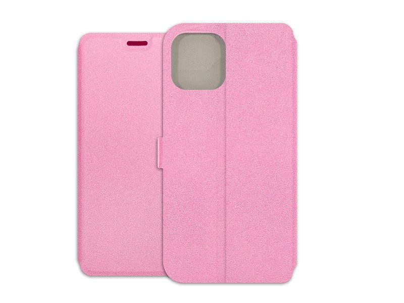 Apple iPhone 12 Pro – etui na telefon Wallet Book – różowy