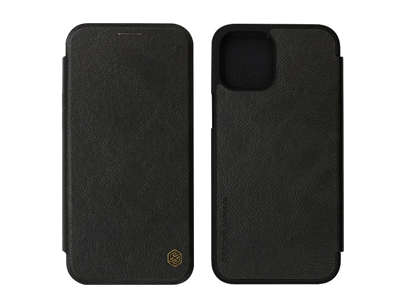 Apple iPhone 12 Pro Max – etui na telefon Nillkin Qin – czarny