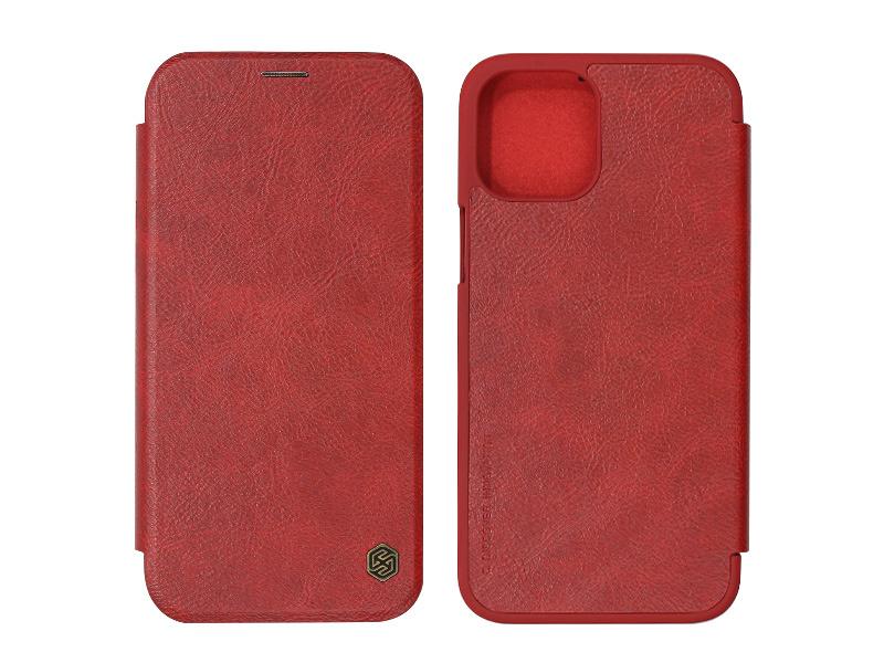 Apple iPhone 12 Pro Max – etui na telefon Nillkin Qin – czerwony