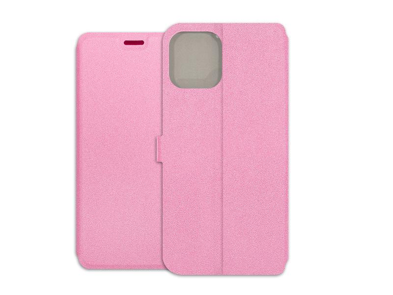 Apple iPhone 12 Pro Max – etui na telefon Wallet Book – różowy