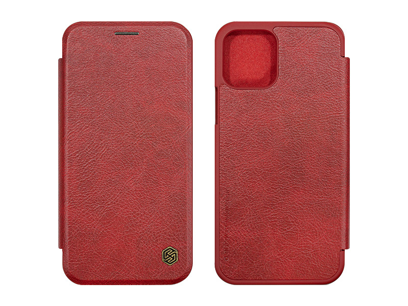 Apple iPhone 12 – etui na telefon Nillkin Qin – czerwony