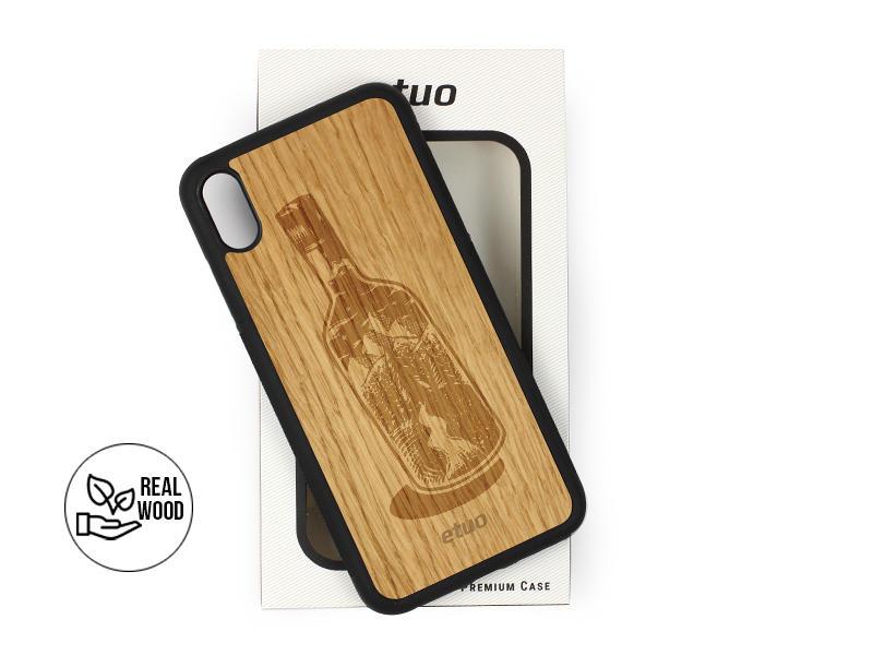 Etui na telefon Wood Case – dąb – butelka