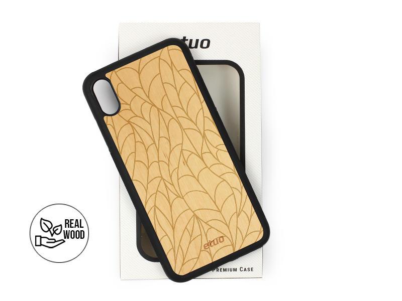 Etui na telefon Wood Case – olcha – liście