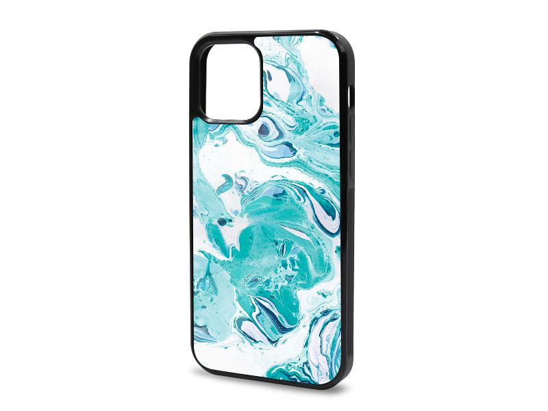 Etui na telefon Glossy Case – Marble Collection Case – Niebieski Marmur