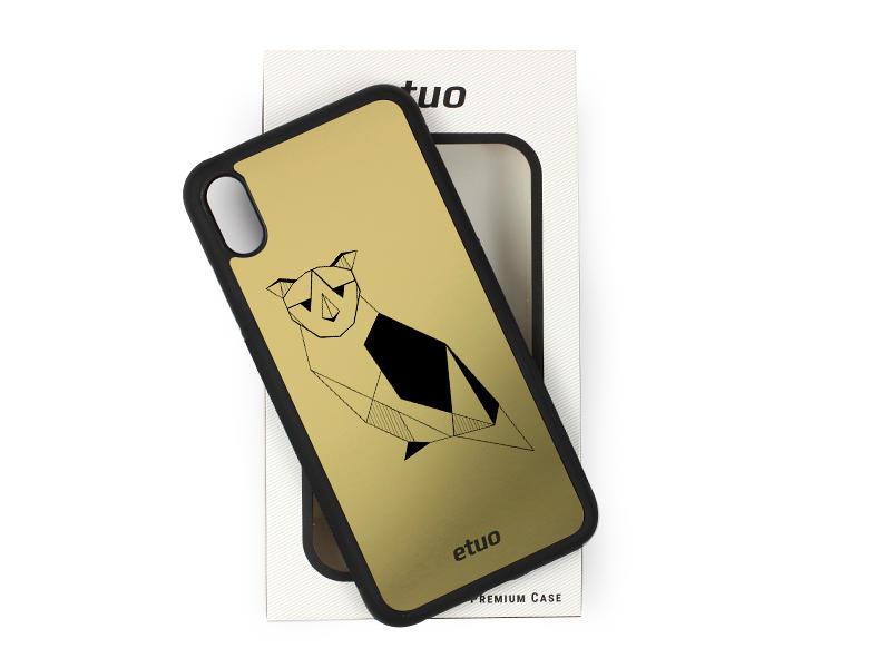Etui na telefon Graver Case – złoty – sowa