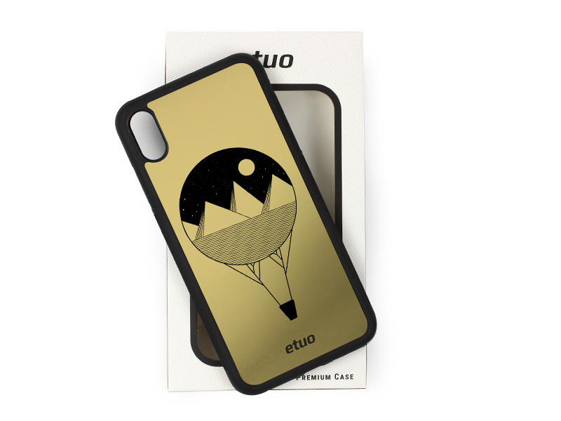 Etui na telefon Graver Case – złoty – balon