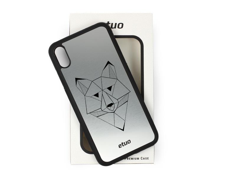 Etui na telefon Graver Case – srebrny – wilk