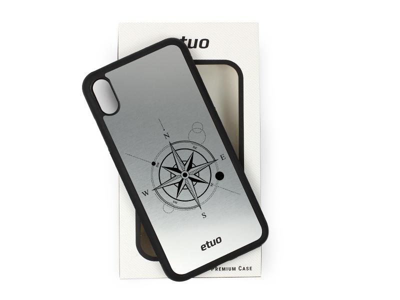 Etui na telefon Graver Case – srebrny – kompas