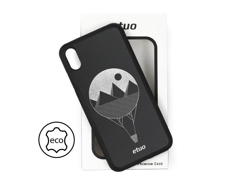 Etui na telefon Leather Case – czarny – balon