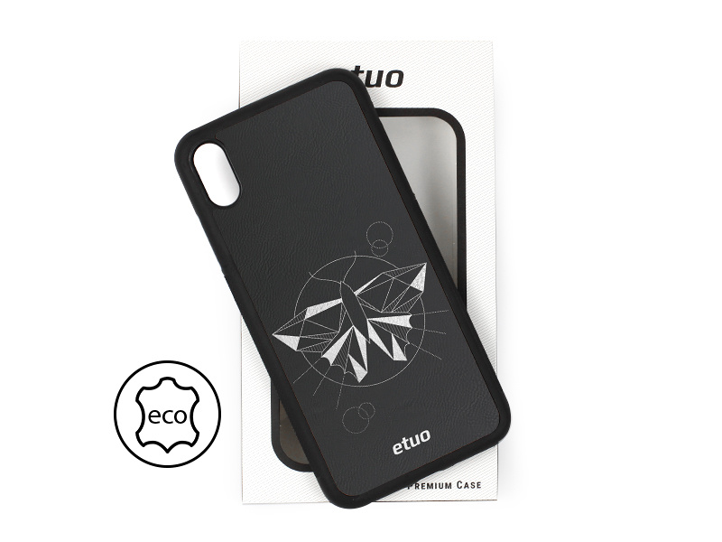 Etui na telefon Leather Case – czarny – ćma