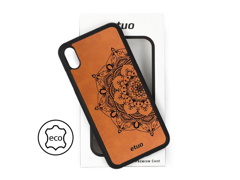 Etui na telefon Leather Case – cynamonowy brąz – mandala