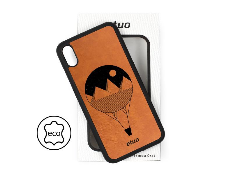 Etui na telefon Leather Case – cynamonowy brąz – balon