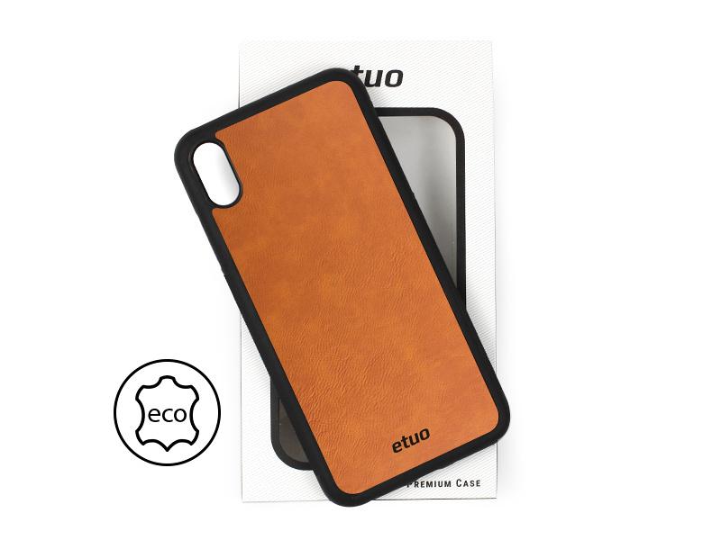 Etui na telefon Leather Case – cynamonowy brąz