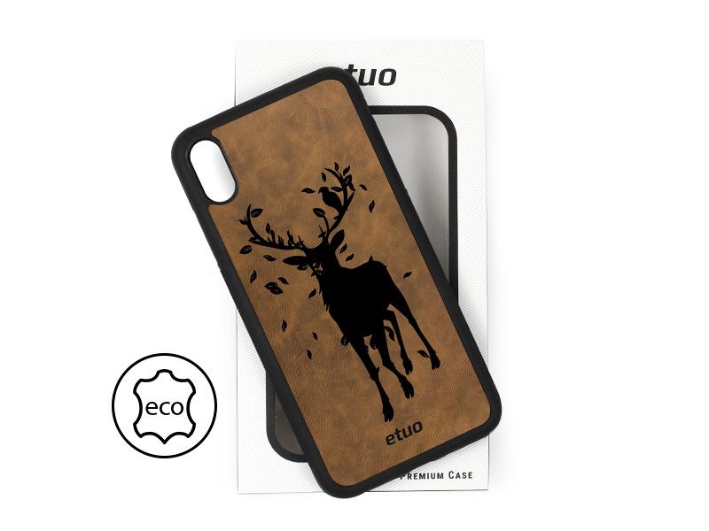 "Etui na telefon Leather Case – ciemna czekolada – jeleÅ"""