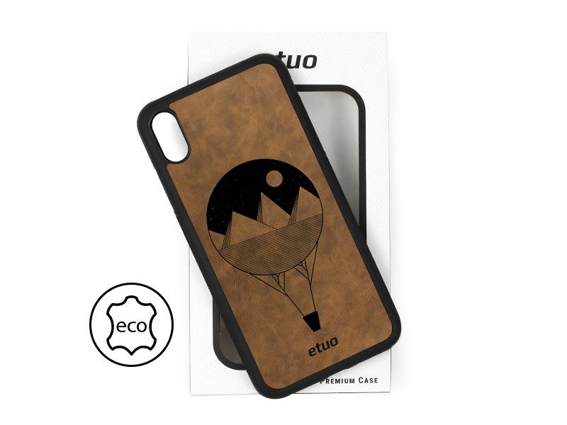 Etui na telefon Leather Case – ciemna czekolada – balon