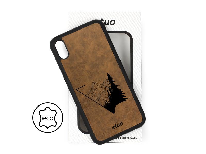 Etui na telefon Leather Case – ciemna czekolada – las