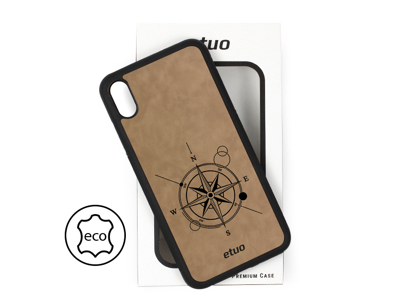 Etui na telefon Leather Case – szary – kompas
