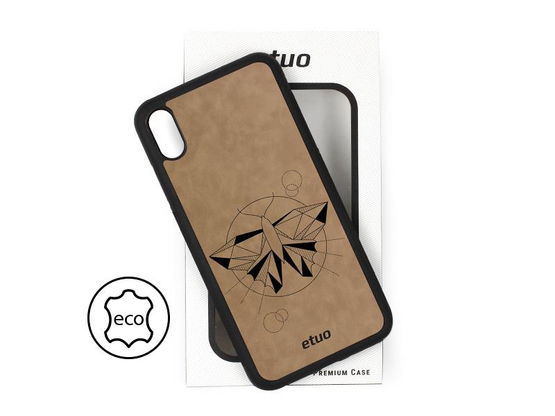 Etui na telefon Leather Case – szary – ćma