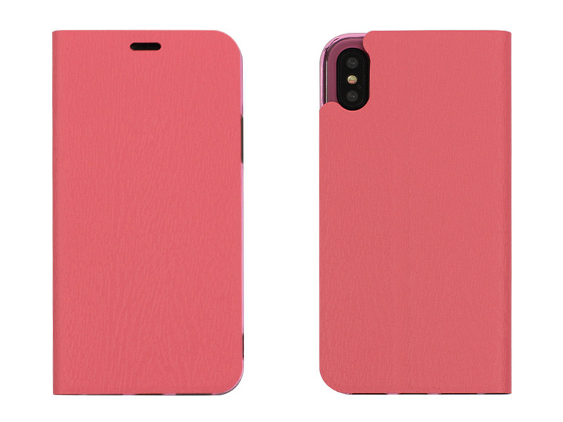 Apple iPhone X – etui na telefon Flex Book – różowy