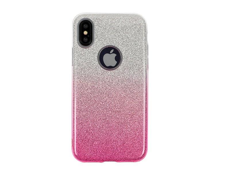 Apple iPhone X – etui na telefon Forcell Shining – różowe ombre