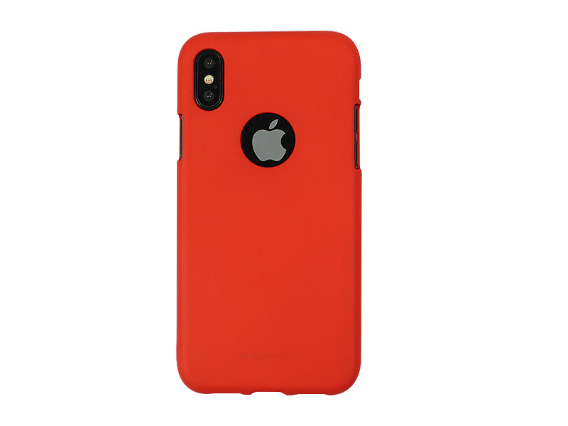 Apple iPhone X – Mercury Goospery Soft Feeling – czerwony