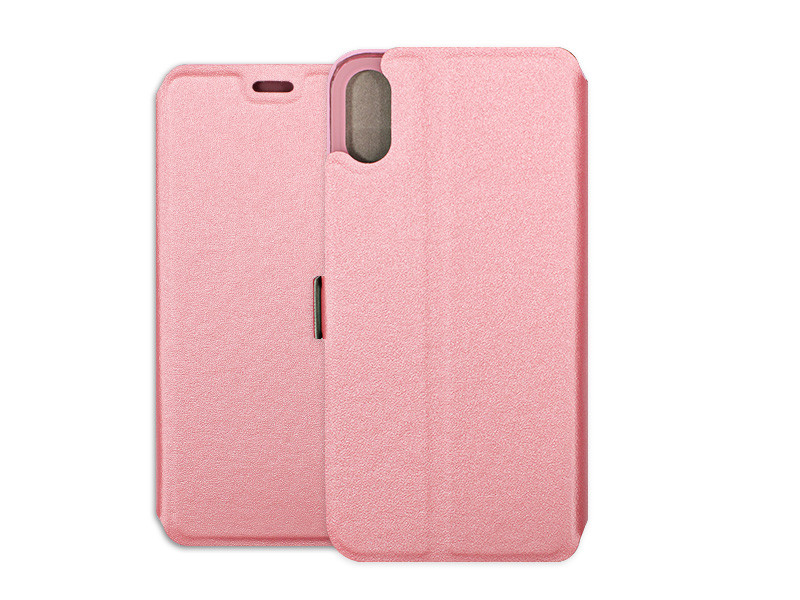 Apple iPhone X – etui na telefon Wallet Book – różowy