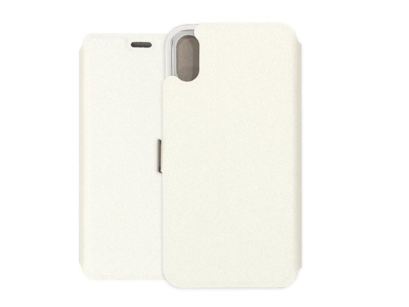 Apple iPhone X – etui na telefon Wallet Book – biały