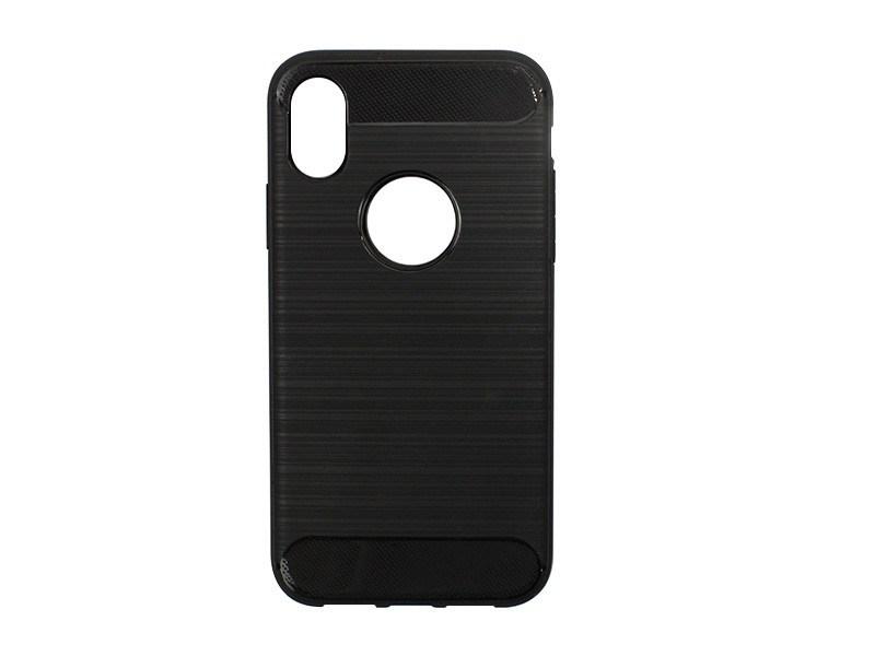Apple iPhone XS – etui na telefon Forcell Carbon – czarny