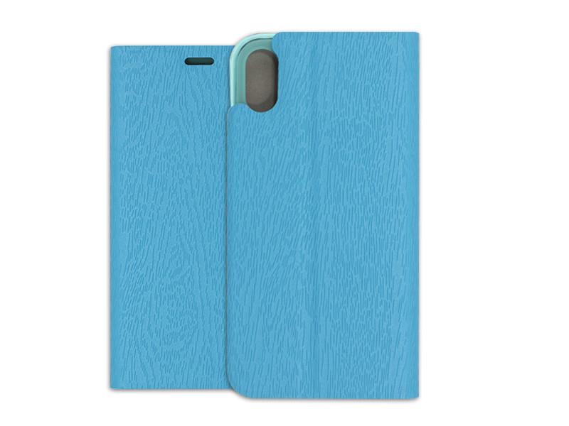 Apple iPhone XS – etui na telefon Flex Book – niebieski