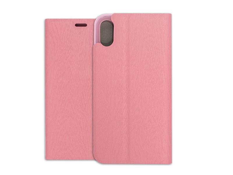 Apple iPhone XS – etui na telefon Flex Book – różowy