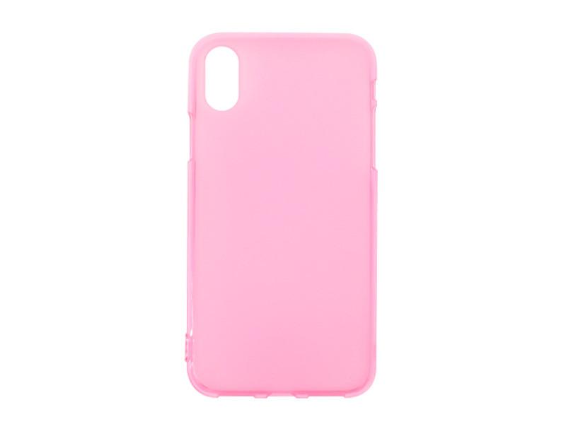 Apple iPhone XS – etui na telefon FLEXmat Case – różowy