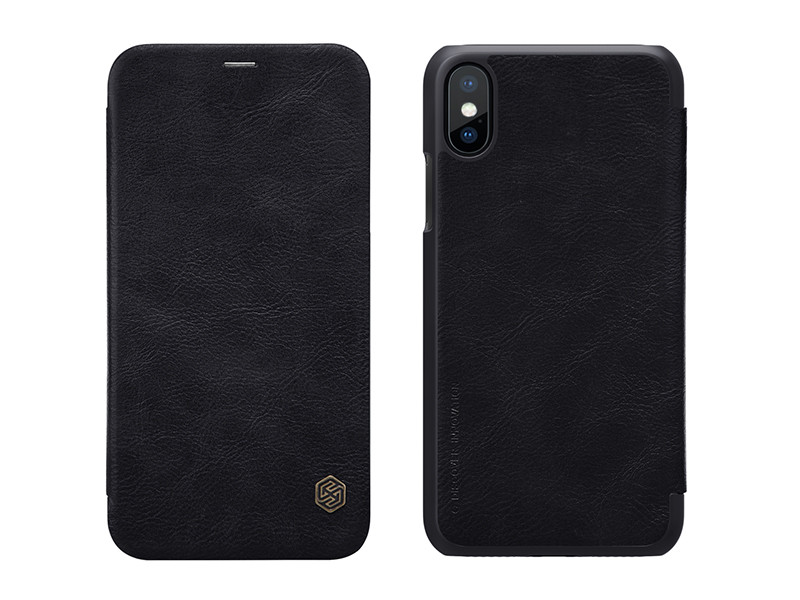 Apple iPhone XS – etui na telefon Nillkin Qin – czarny
