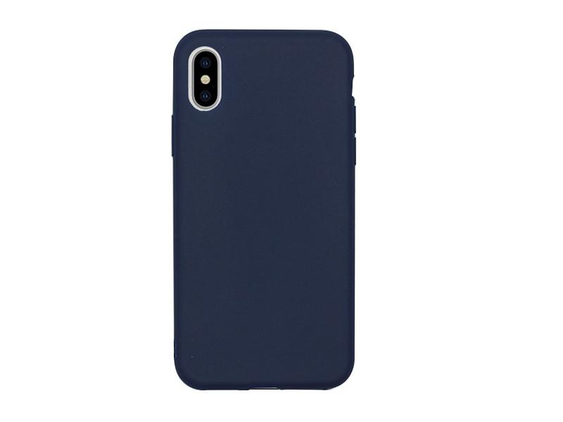 Apple iPhone XS – etui na telefon Soft Flex – granatowy