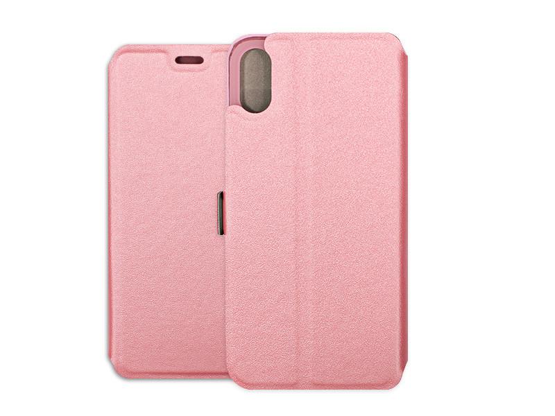 Apple iPhone XS – etui na telefon Wallet Book – różowy