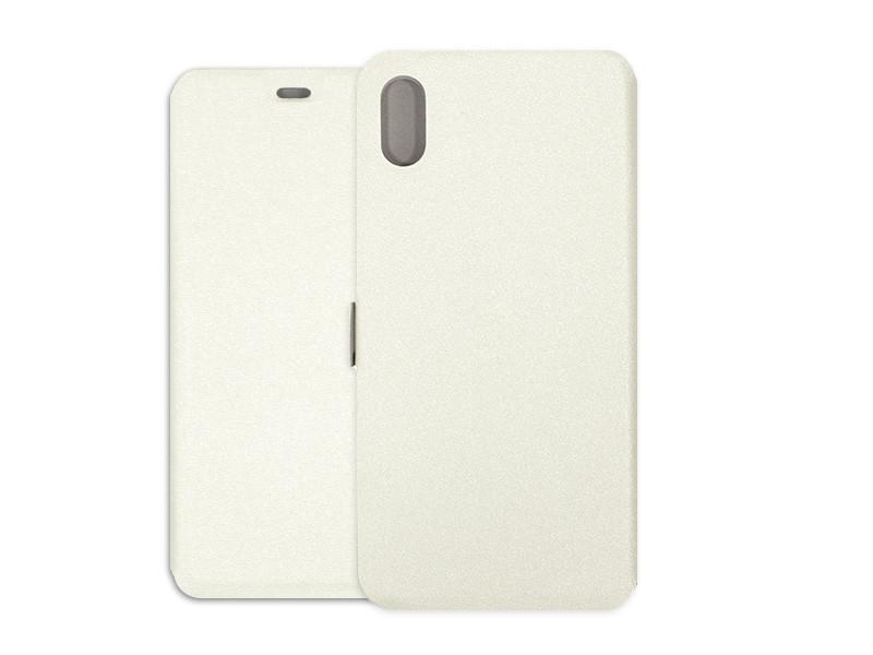 Apple iPhone XS Max – etui na telefon Wallet Book – biały