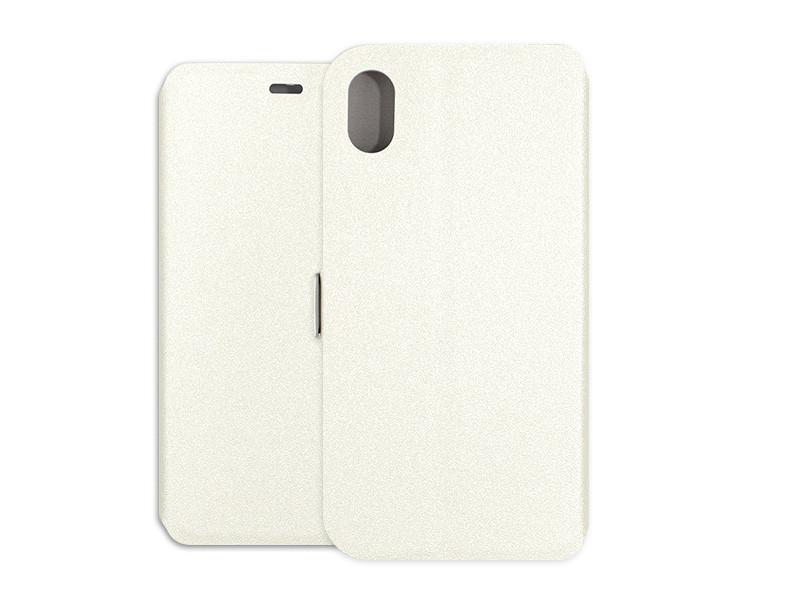 Apple iPhone XR – etui na telefon Wallet Book – biały